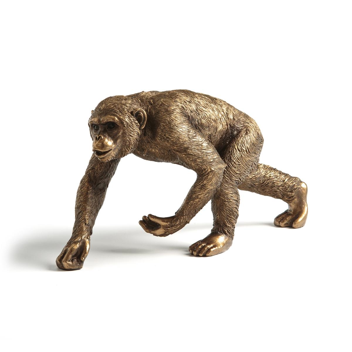 Статуэтка La Redoute Шимпанзе Pedro единый размер золотистый