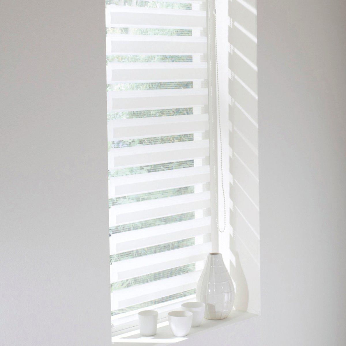 Штора рулонная, пропускающая свет, Jour / Nuit, с системой Easy (для широких окон)Эта штора позволяет выбирать интенсивность света, от ажурного эффекта до рассеянного света. Снабжена системой Concept Easy : крепление защелкой !. Без сверления и крепления, она крепится на окна ПВХ с помощью клипс, входящих в комплект   . Мягкая ткань 100% полиэстер  .Тяжелая рейка внизу.Длина регулируется механизмом с цепочкой.Можно отрезать по ширине. - В.150 x Ш.52 см.- В.150 x Ш.62 см.<br><br>Цвет: антрацит,белый<br>Размер: 92 x 190 cm.62 x 190 cm.52 x 190 cm