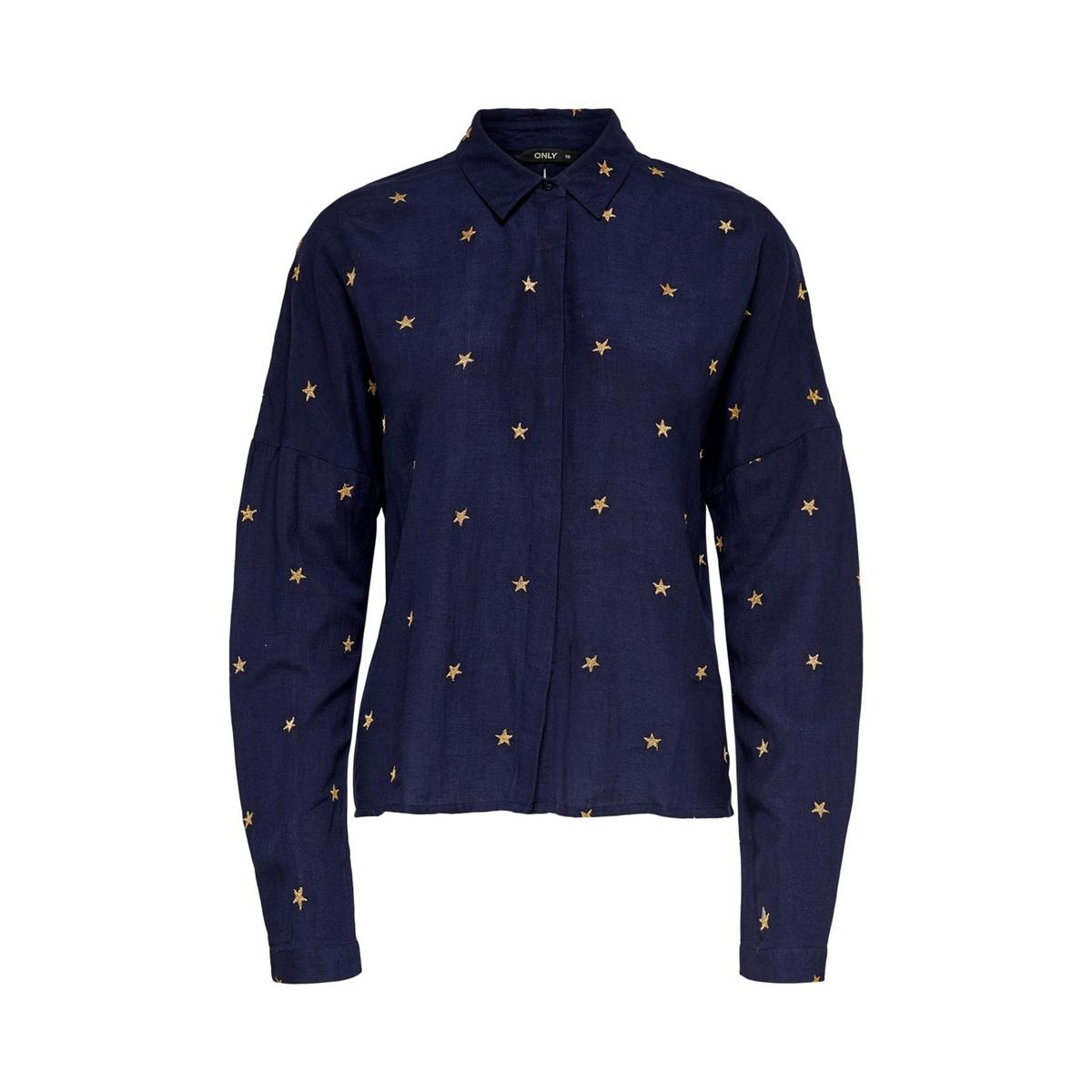 Рубашка La Redoute С принтом звезды 38 (FR) - 44 (RUS) синий брюки чино la redoute la redoute 38 fr 44 rus синий