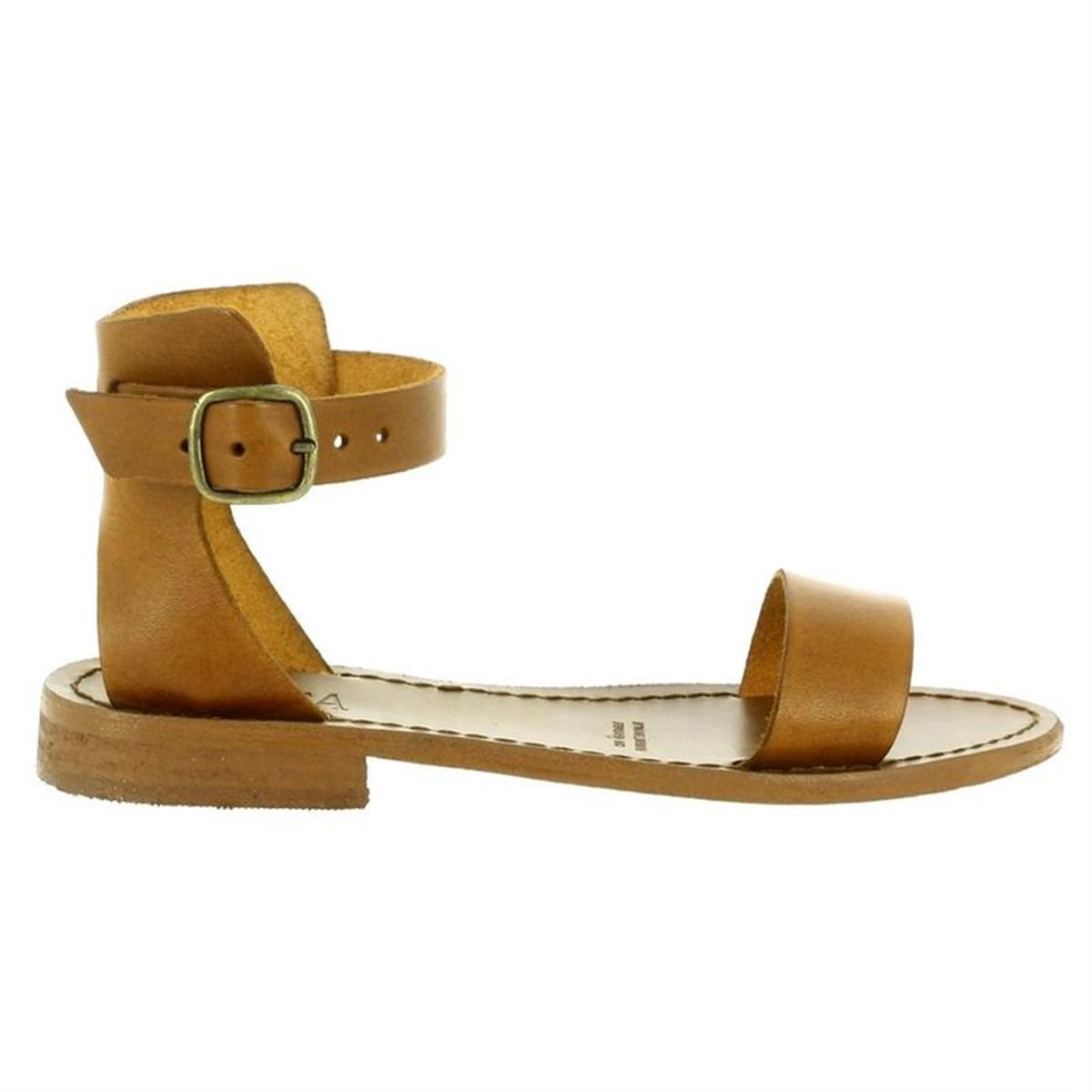 sandales     nu-pieds cuir
