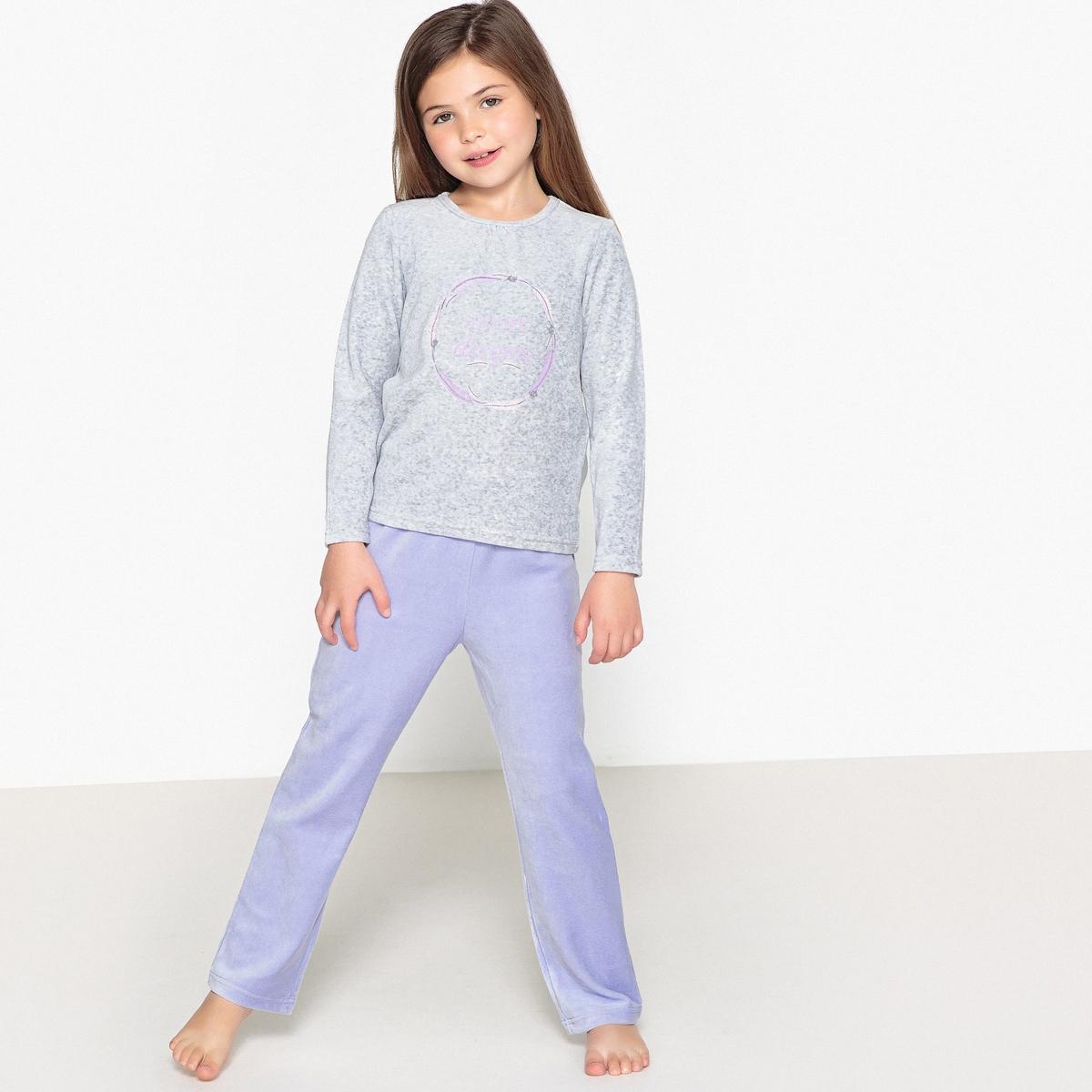 цены Пижама раздельная из велюра с принтом, 3-12 лет