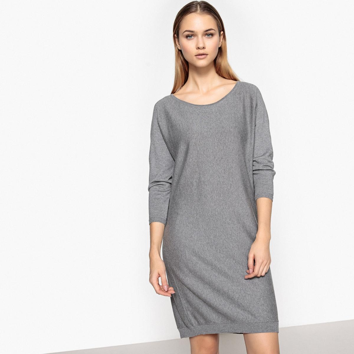 Платье с рукавами-летучая мышь из хлопка и кашемира полуприлегающее платье с рукавами летучая мышь s