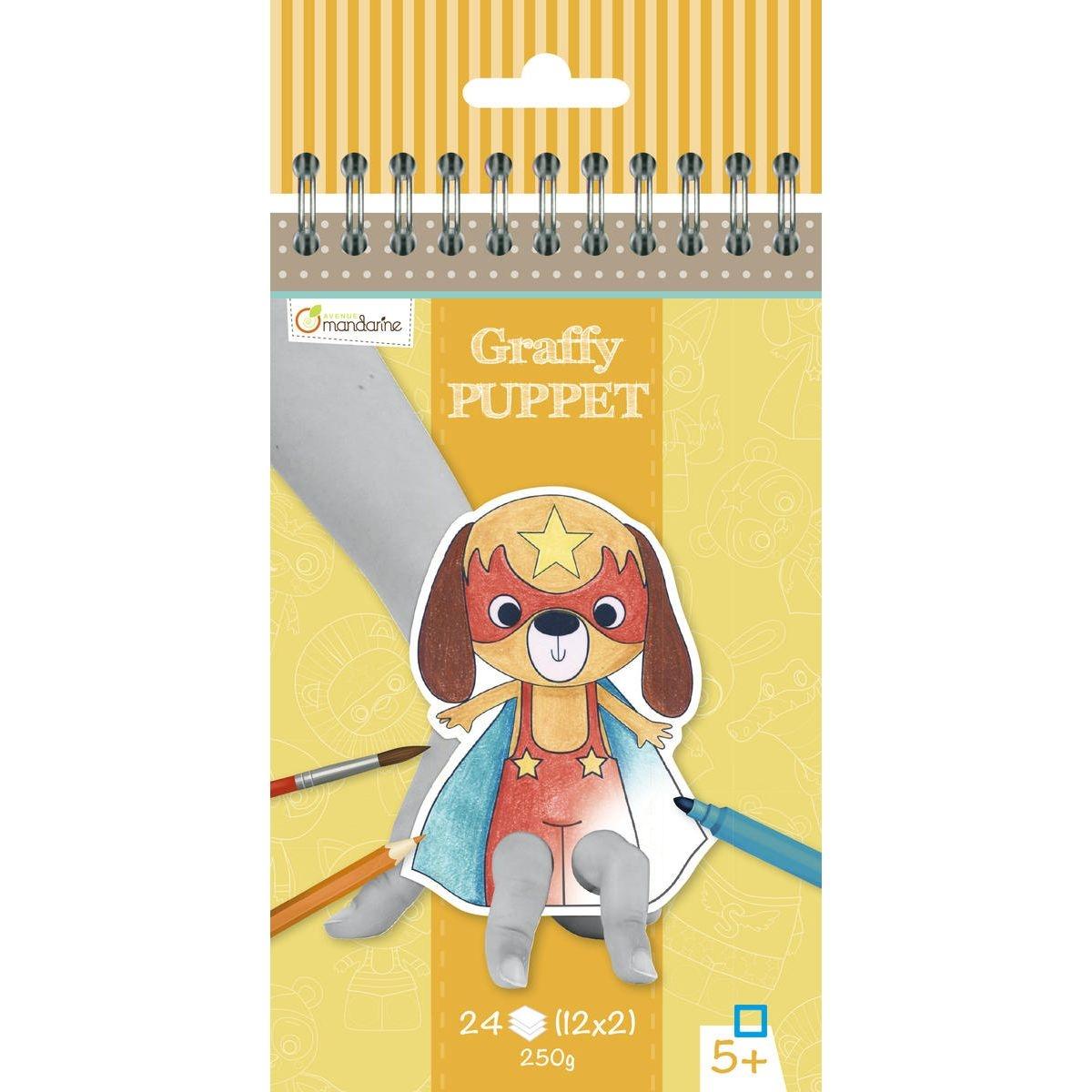 Graffy Puppet - Animaux Super Héros - AVEGY010O - CLAGY010O