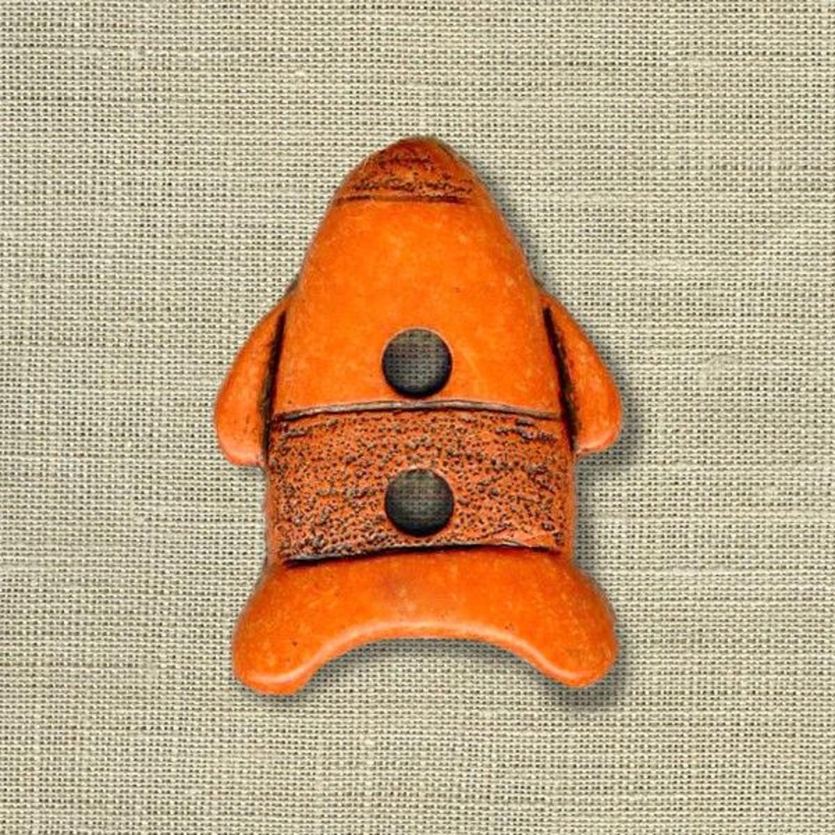 Bouton Enfant Fusée, Col. Citrouille