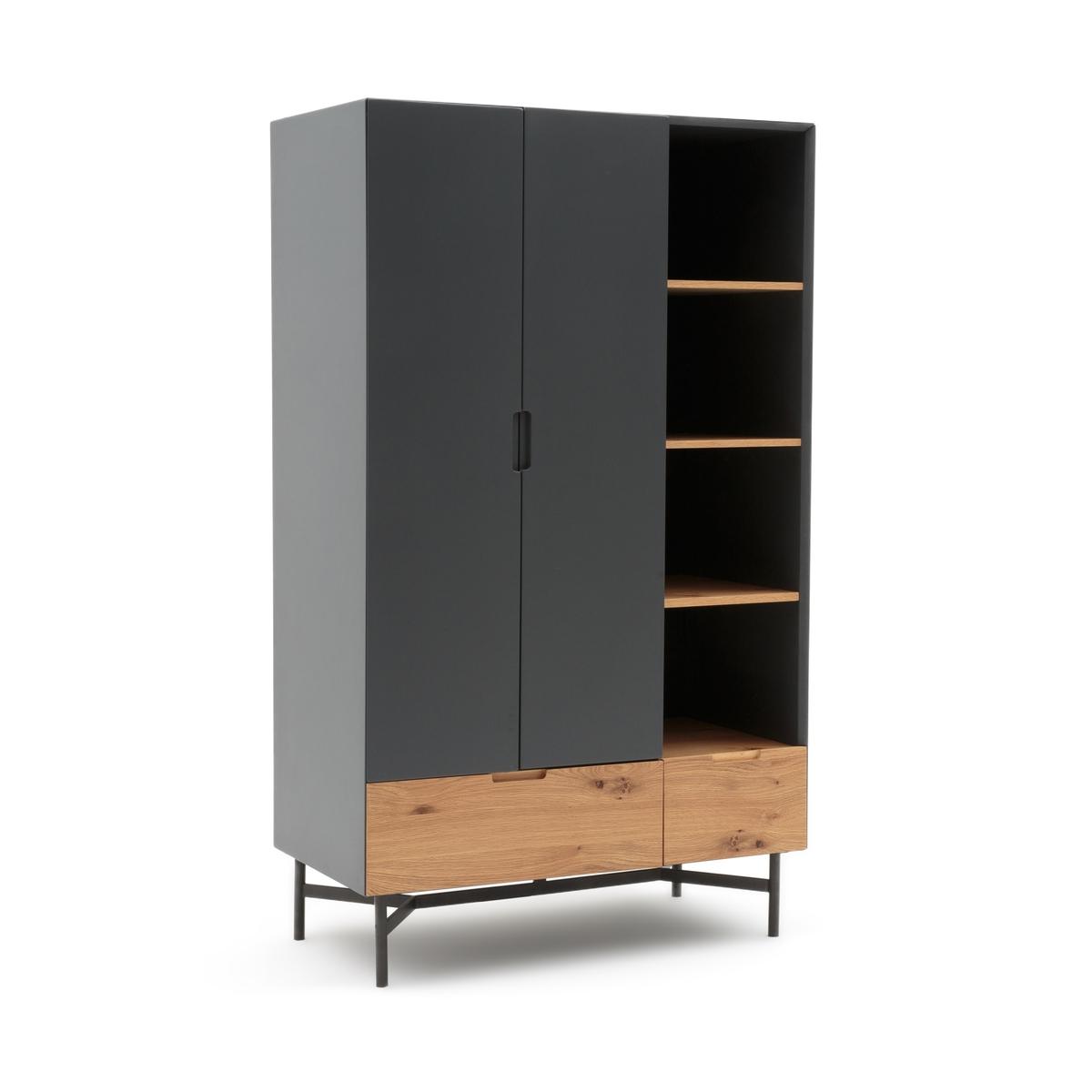 Шкаф LaRedoute Платяной LORA единый размер серый