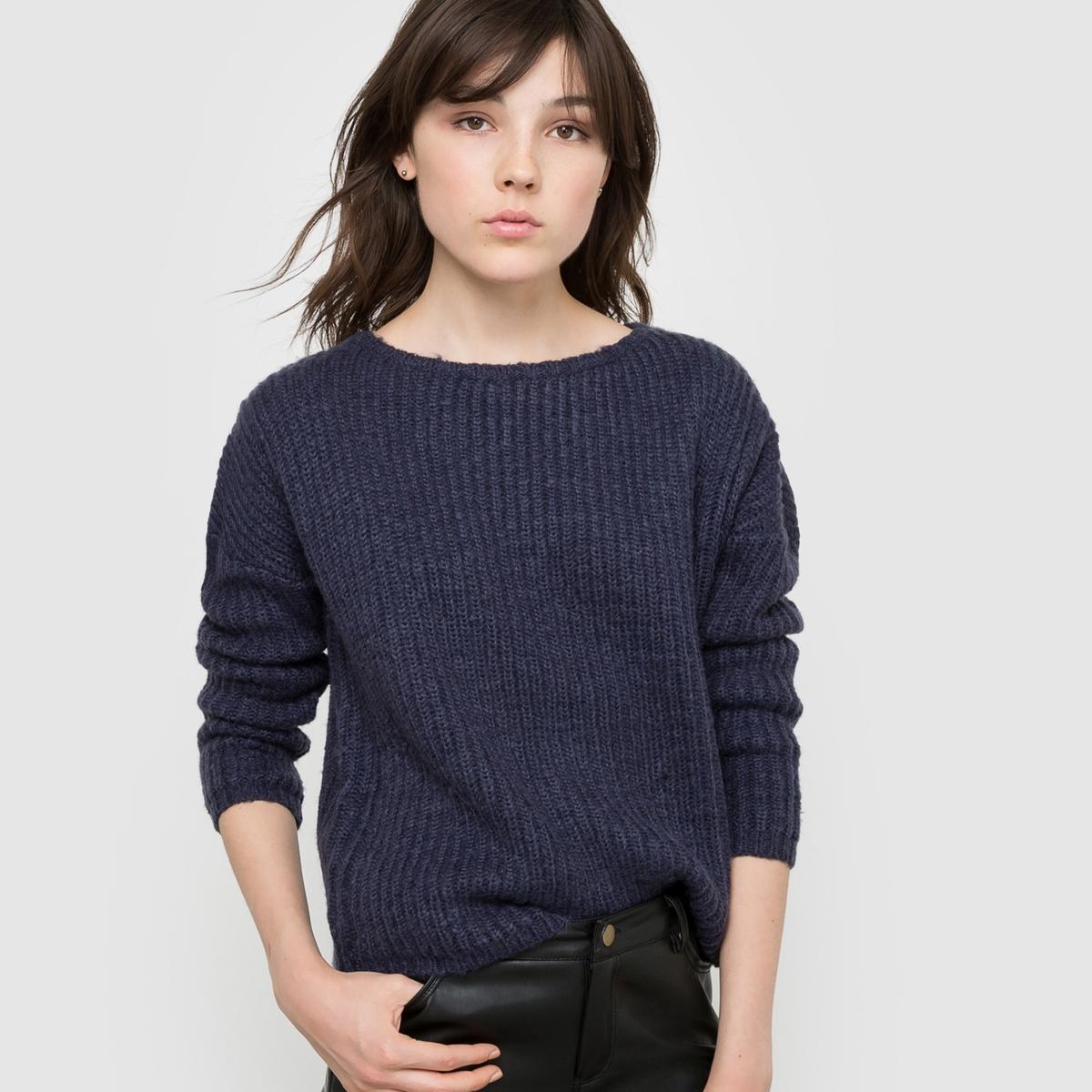 Пуловер теплый с приспущенными проймамиСостав и описание : Материал: 100% акрила.Длина      56 смМарка: R ?dition Уход :Машинная стирка при 30 °C<br><br>Цвет: светло-зеленый,телесный,темно-синий