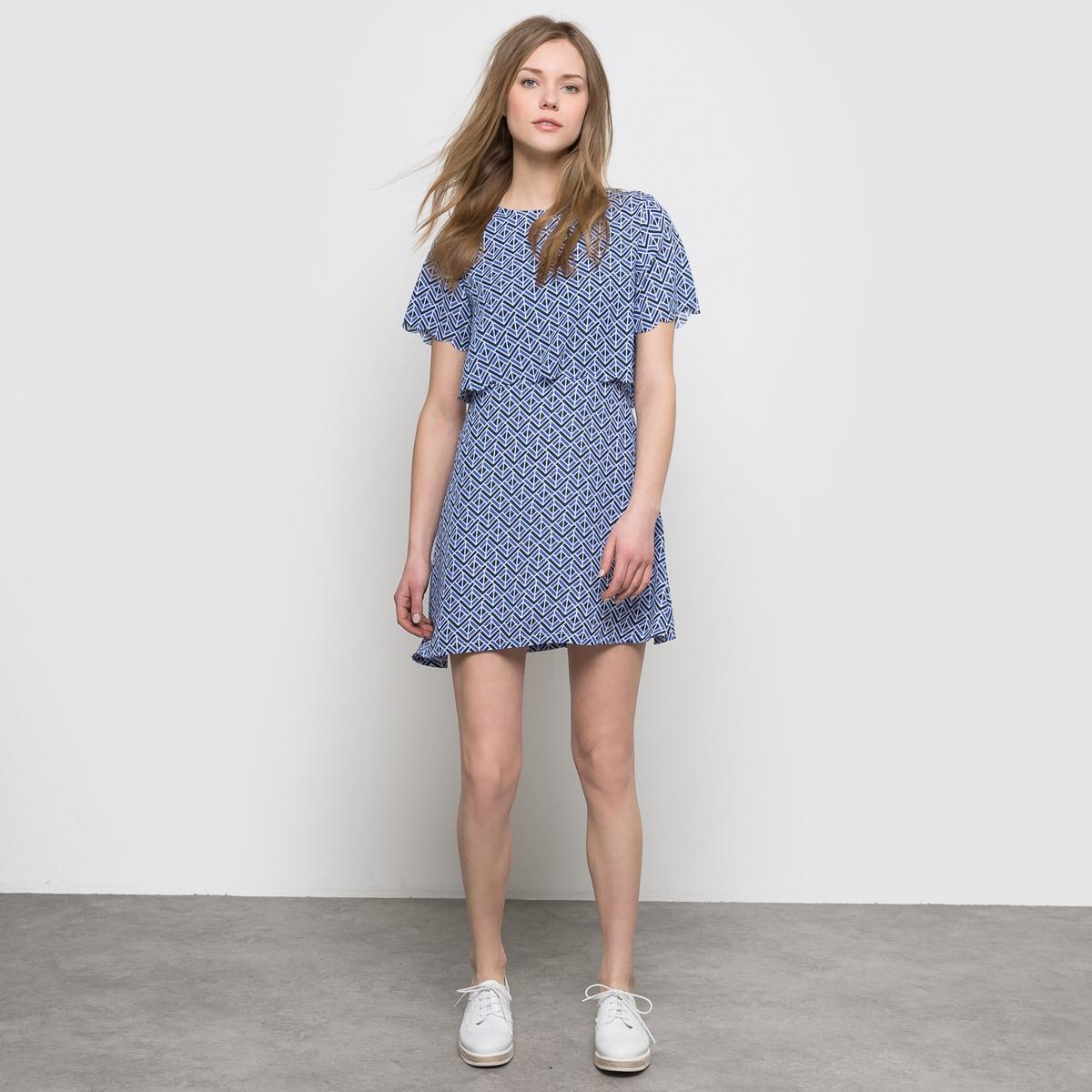 Платье 2 в 1 с геометрическим рисунком платье 2 в 1