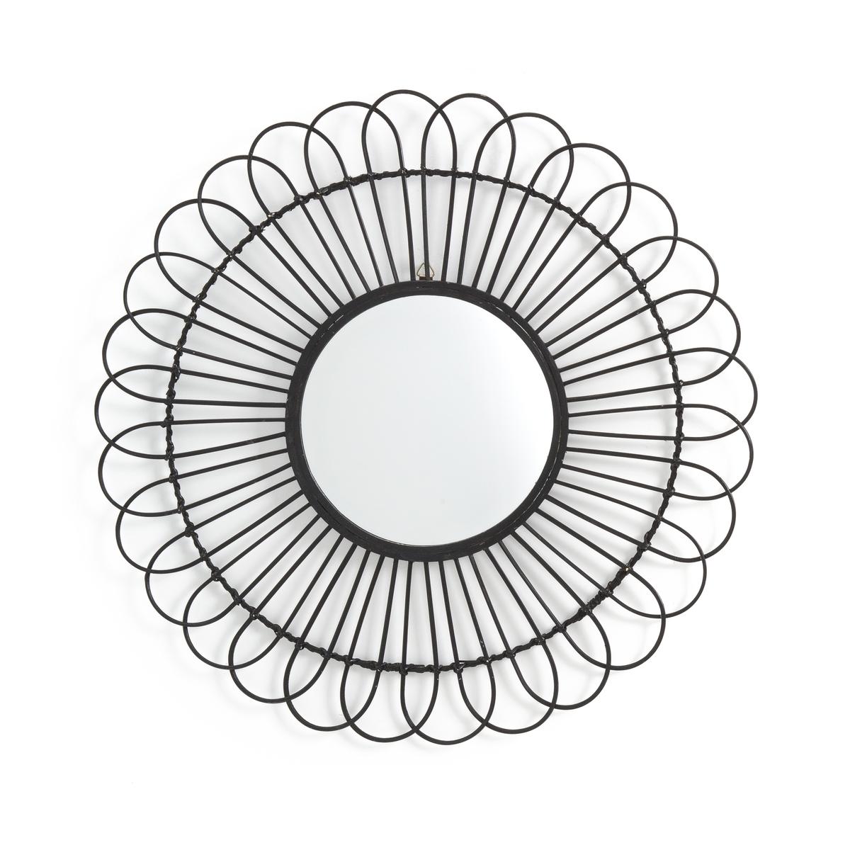 Зеркало La Redoute С ротангом и бамбуком в форме солнца см Nogu единый размер черный зеркало la redoute из ротанга в форме ромашки см nogu единый размер бежевый