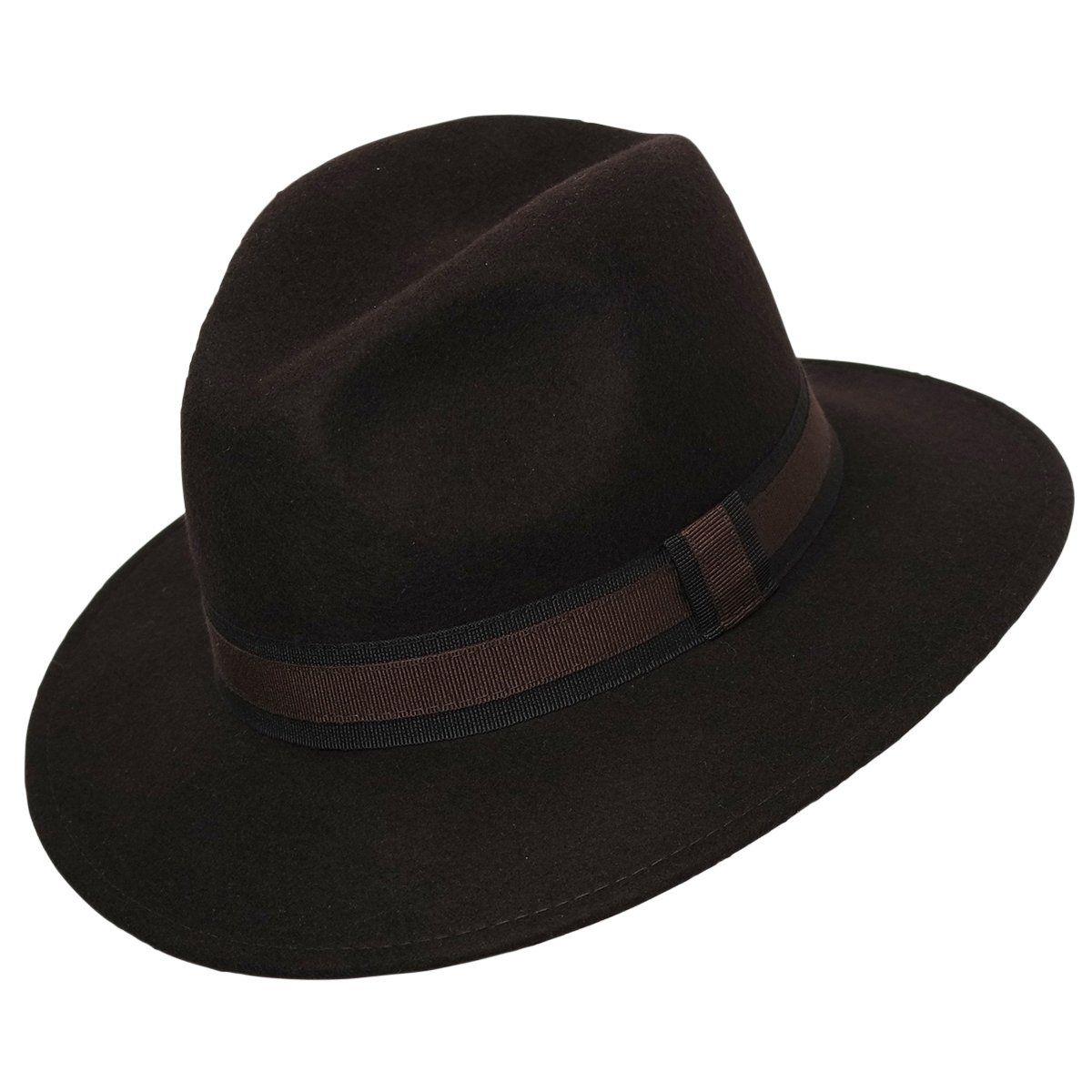 Chapeau fédora 100% laine IDRO