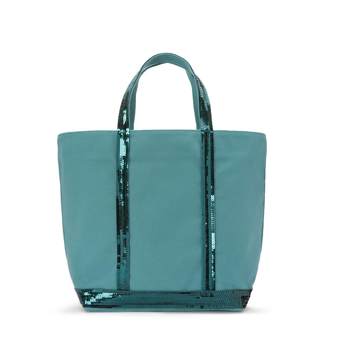 Фото - Сумка-шоппер La Redoute Из ткани с блестками единый размер синий сумка шоппер средняя из парусины с блестками