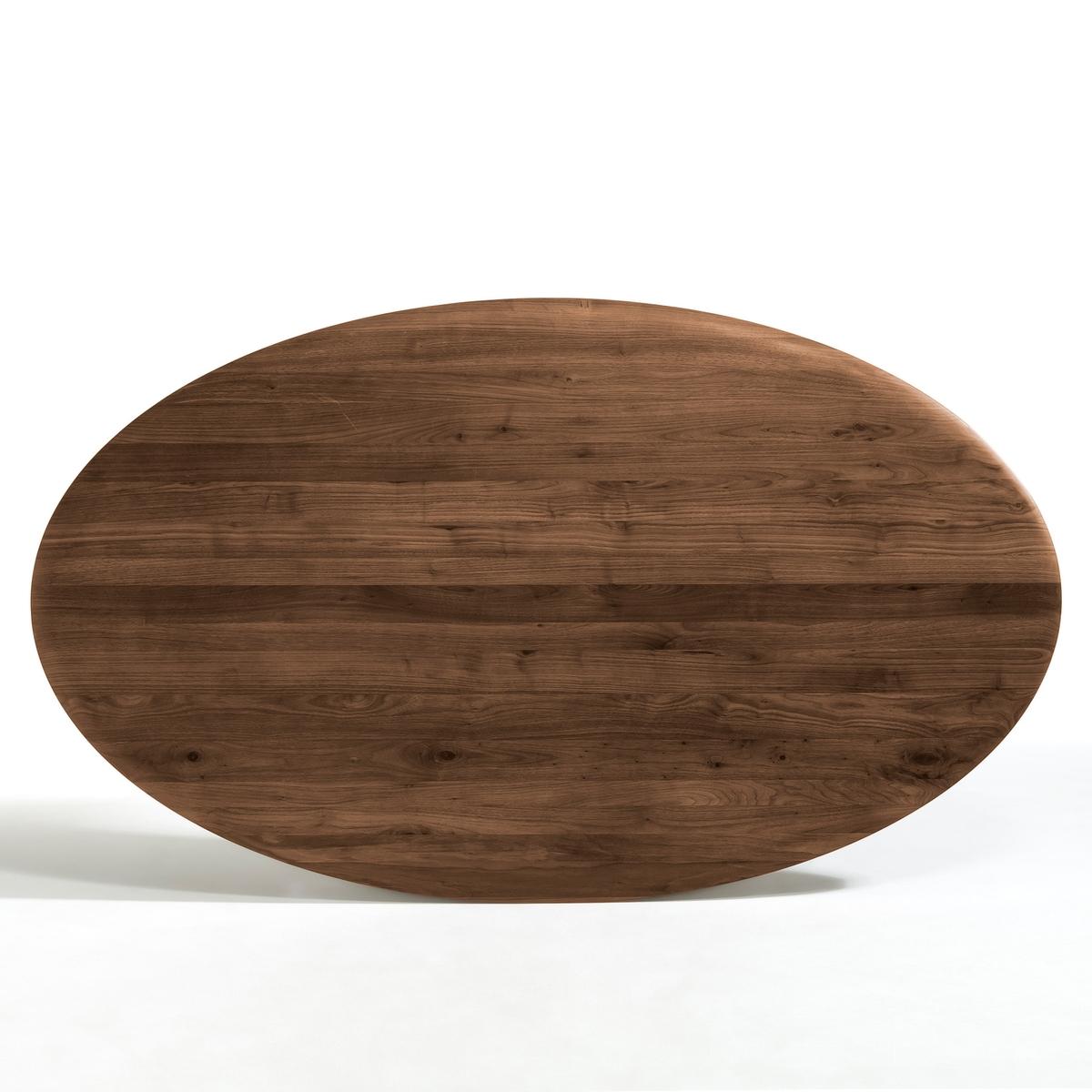 Столешница овальная из массива орехового дерева, Hisia