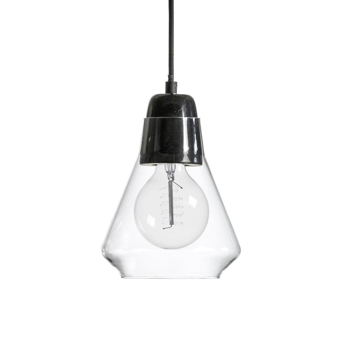 Светильник из стекла и мрамора AnaxagoreЭлегантный прозрачный светильник из стекла и мрамора .Характеристики :- Патрон E27 для флюокомпактной лампочки 15W (не входит в комплект)  - Электрический кабель с текстильным покрытием длина 1 м - Совместима с лампочками электрического класса  A. Размеры :Диаметр 18 x высота 20.3 см<br><br>Цвет: черный