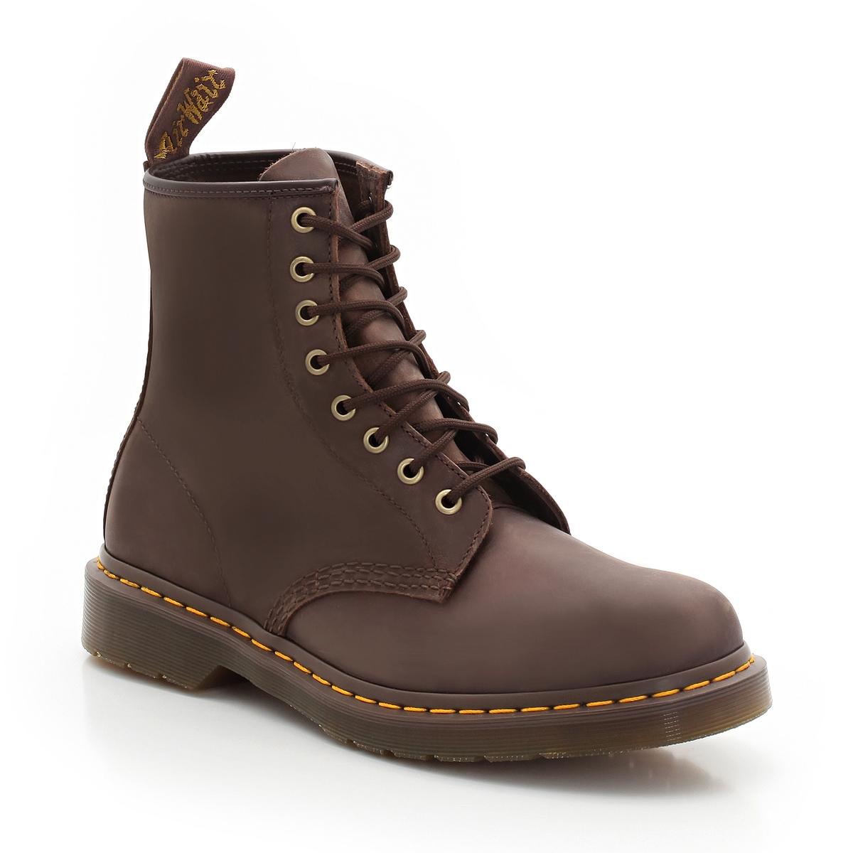 Ботинки La Redoute Кожаные на шнуровке 44 каштановый