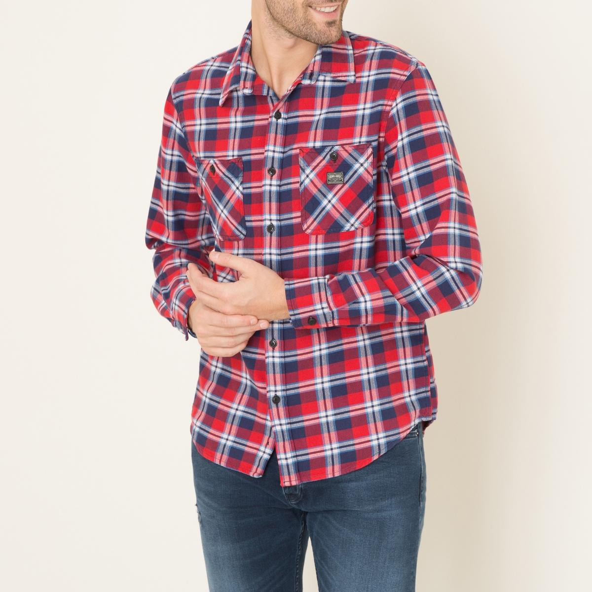 Рубашка в клеткуСостав и описание    Материал : 100% хлопок   Марка : Denim and Supply Ralph Lauren<br><br>Цвет: красный