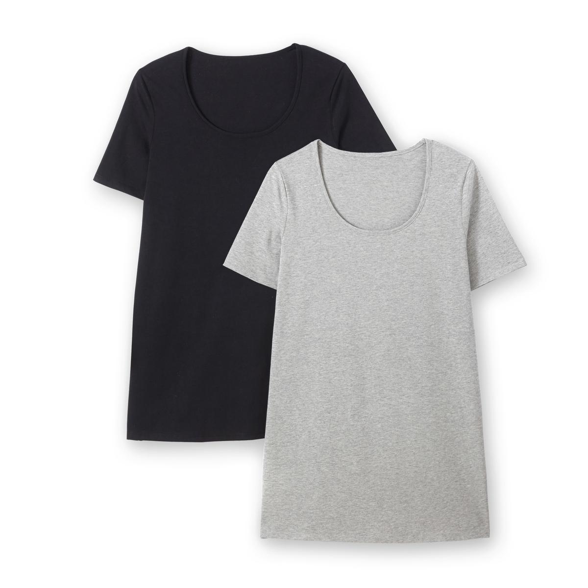 Комплект из футболок с La Redoute Короткими рукавами 58/60 (FR) - 64/66 (RUS) черный