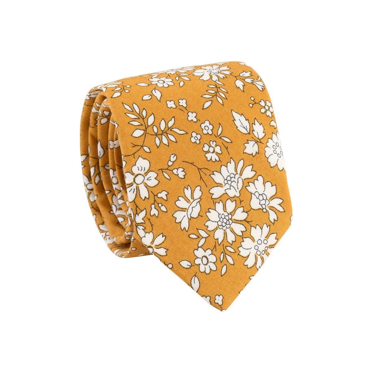 Cravate 100% coton fleurs Liberty