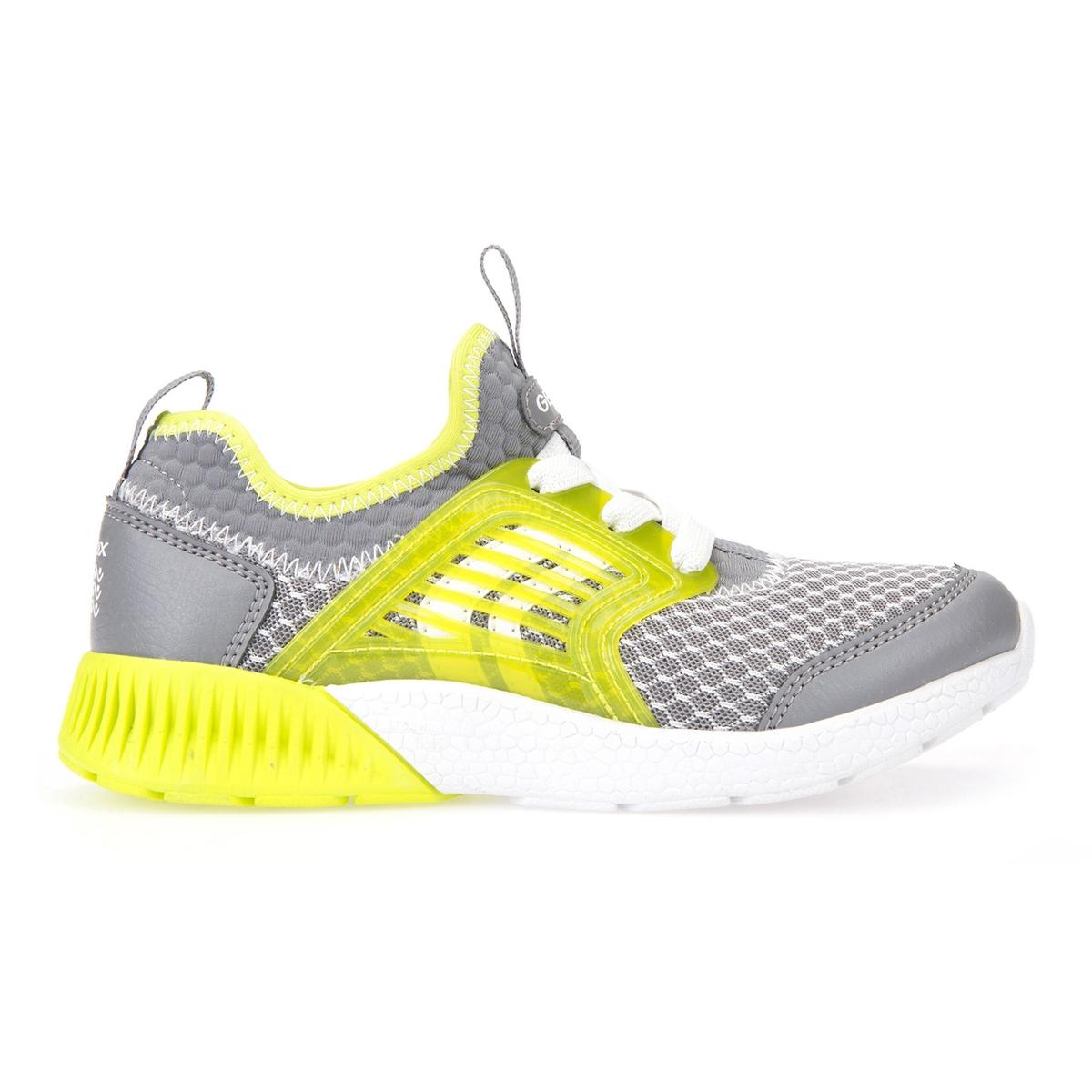 Кеды J SVETH B. AДетали: •  Спортивный стиль. •  Плоский каблук. •  Застежка: шнуровка.Состав и уход: •  Верх: 62% синтетического материала, 38% текстиля. •  Подкладка: 100% текстиль. •  Подошва: 60% эва, 40% каучука.<br><br>Цвет: серый/ желтый
