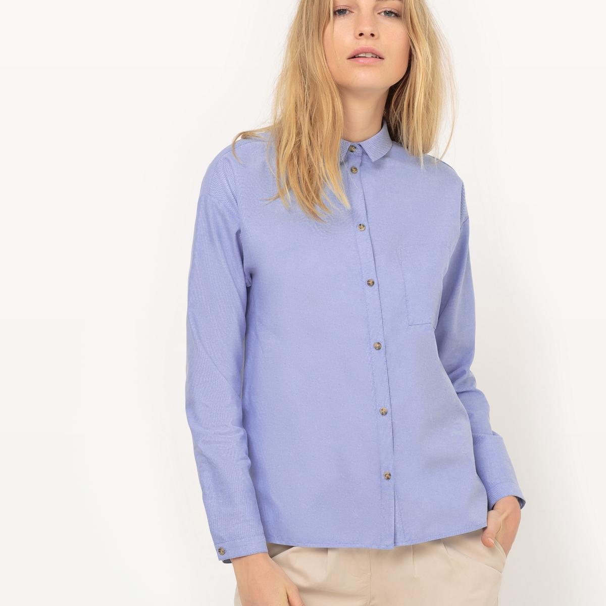 Рубашка-оксфордДетали  •  Длинные рукава •  Прямой покрой  •  Воротник-поло, рубашечный Состав и уход •  100% хлопок  •  Следуйте советам по уходу, указанным на этикетке<br><br>Цвет: синий меланж<br>Размер: 52 (FR) - 58 (RUS).36 (FR) - 42 (RUS)