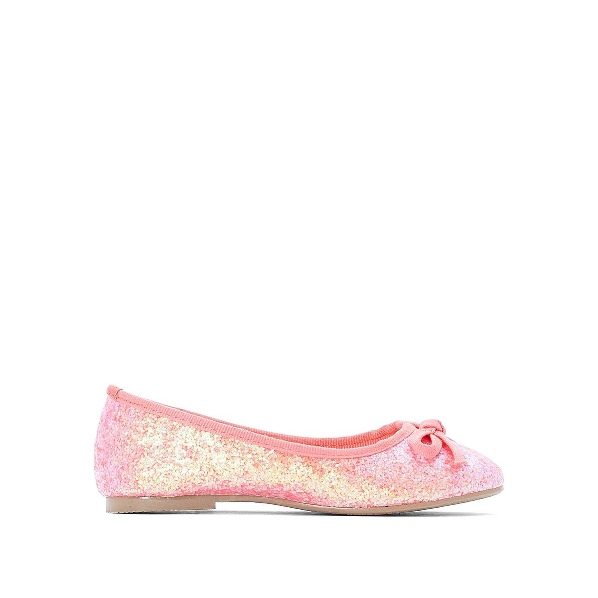 цена Балетки La Redoute С блестками размеры - 34 розовый онлайн в 2017 году