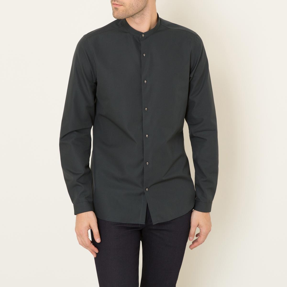 Рубашка однотонная