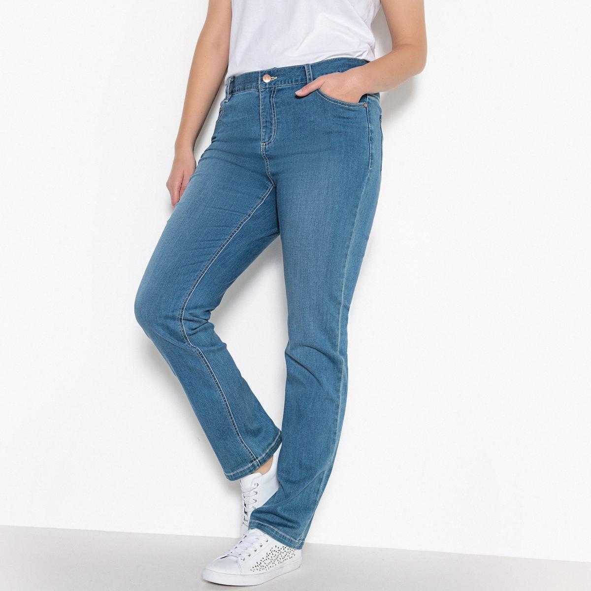 Джинсы прямого покроя стретч,  длина по внутр.шву ок. 78 смДжинсы прямого покроя стретч,  длина по внутр.шву ок.78 см. Деним стретч, 98% хлопка, 2% эластана.Подчеркивается талия, бедра, ягодицы зрительно округляются: прямые джинсы стретч отлично сидят и чрезвычайно удобны! 5 карманов. Рост от 1 м 65 см: длина по внутр.шву ок. 78 см..<br><br>Цвет: голубой потертый,синий потертый,темно-синий,черный<br>Размер: 42 (FR) - 48 (RUS).44 (FR) - 50 (RUS).42 (FR) - 48 (RUS).56 (FR) - 62 (RUS).44 (FR) - 50 (RUS).58 (FR) - 64 (RUS).54 (FR) - 60 (RUS).54 (FR) - 60 (RUS)