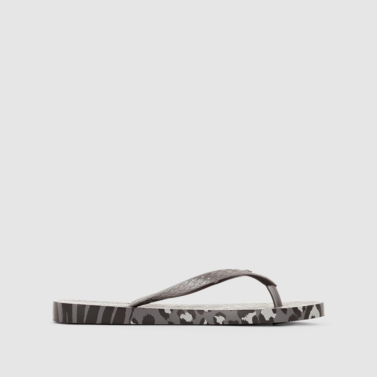 Вьетнамки Animal Print II FemВерх/Голенище : каучук   Стелька : каучук   Подошва : каучук   Форма каблука : плоский каблук   Мысок : открытый мысок   Застежка : без застежки<br><br>Цвет: рисунок леопард/черный