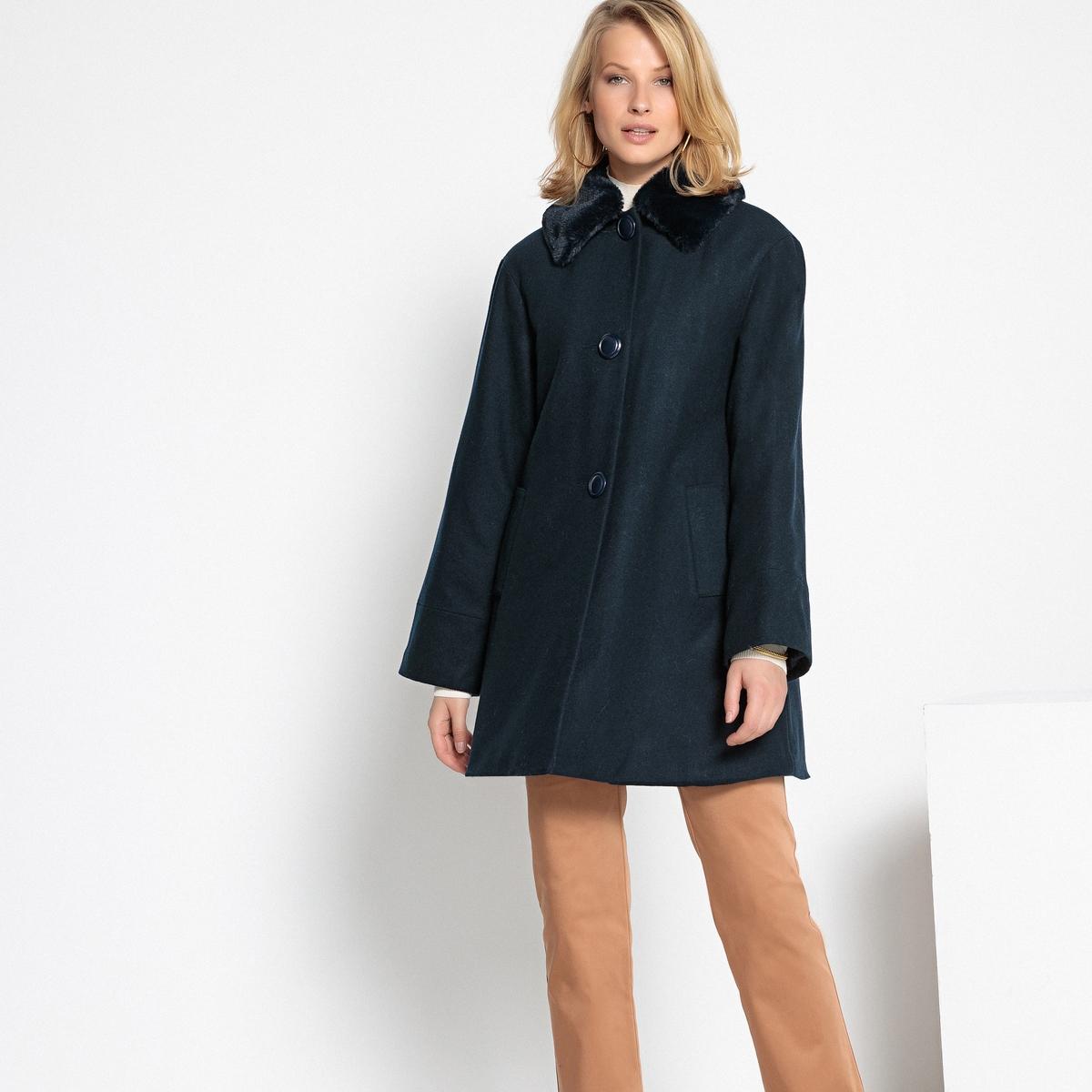 Пальто из полушерстяной ткани на стеганой подкладке пальто из шерстяного драпа 70