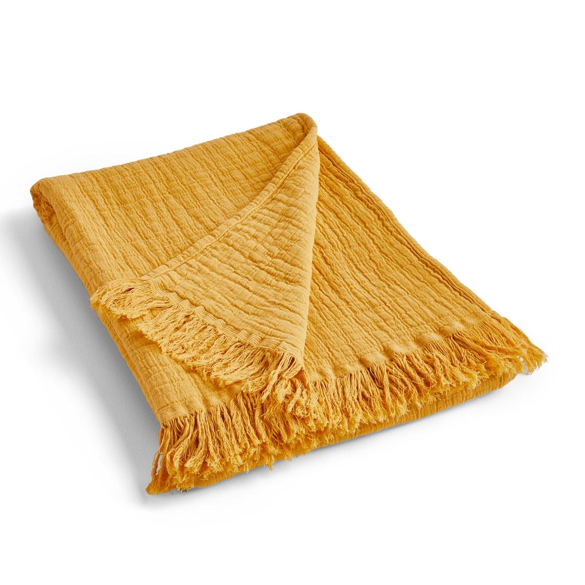 Фото - Плед La Redoute Из хлопковой газовой ткани Aska 180 x 230 см желтый соль пищевая зимушка краса экстра 180 г