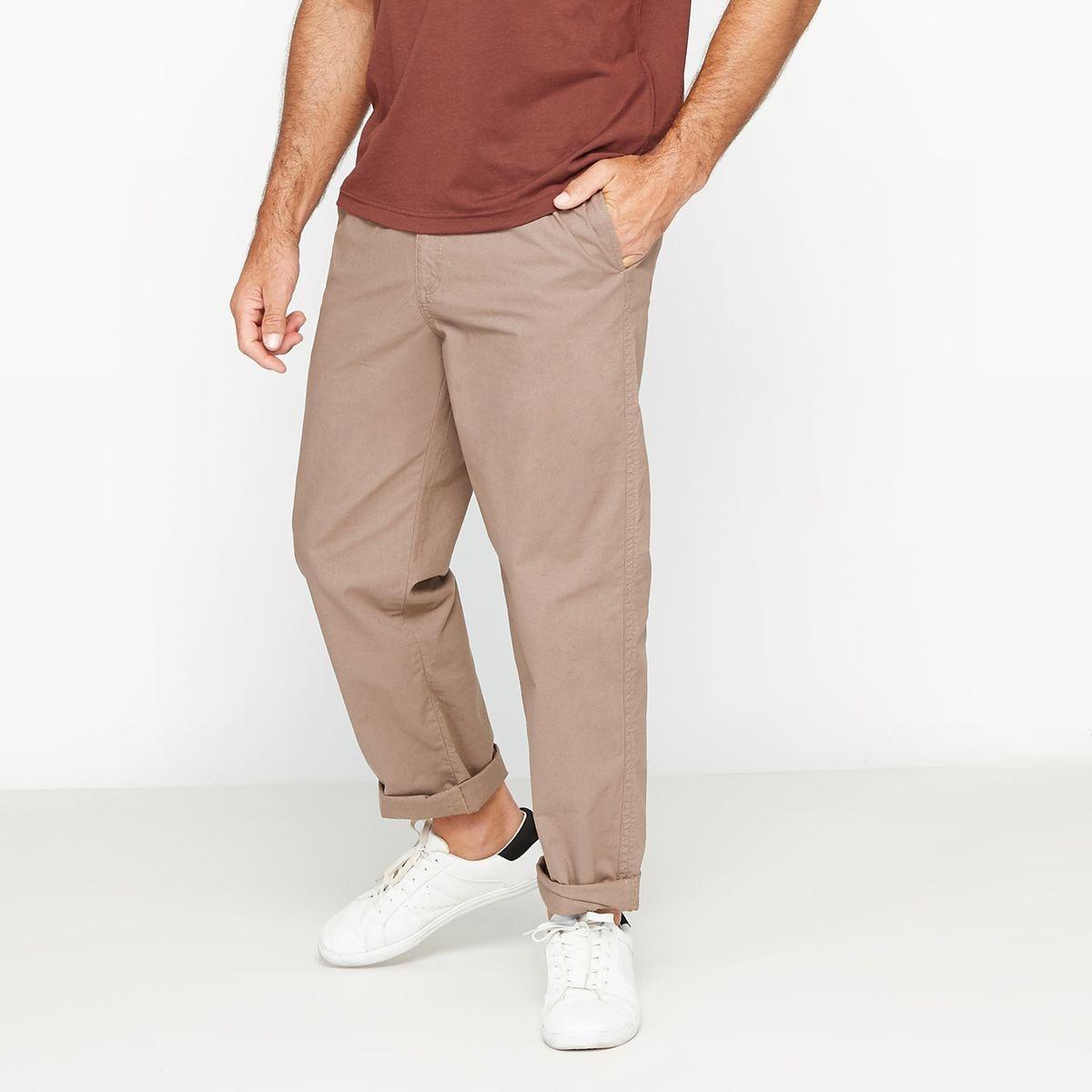 Pantalon droit en coton