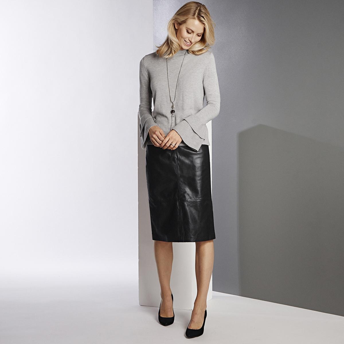 Imagen principal de producto de Jersey de cuello alto con volantes y punto fino - Anne weyburn