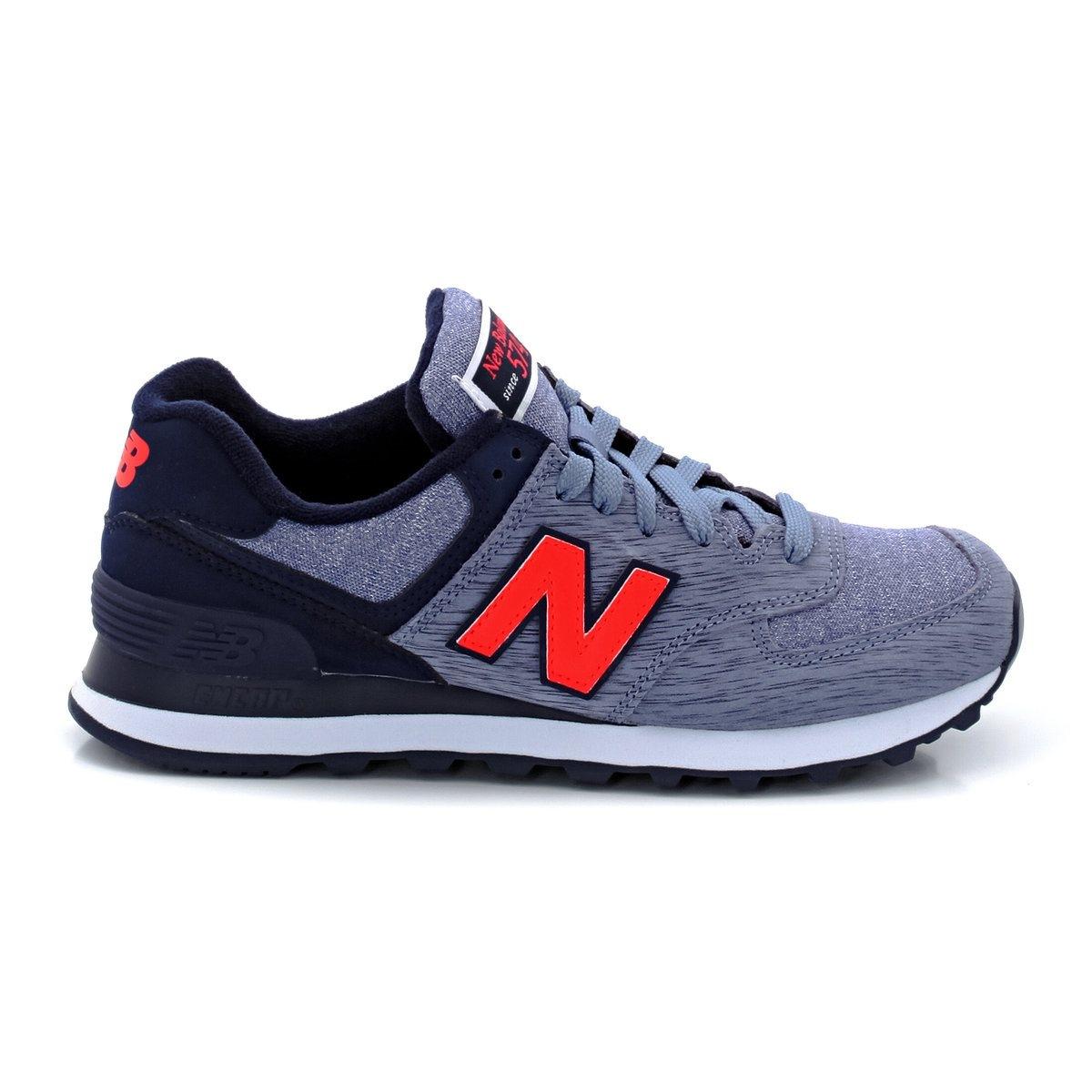 NEW BALANCE WL574WTCНизкие кроссовки NEW BALANCE WL574WTC. Подкладка: текстиль. Стелька: текстиль. Подошва: синтетический материал. Верх: замша + текстиль. Застежка: на шнуровке.<br><br>Цвет: синий/ фиолетовый<br>Размер: 36