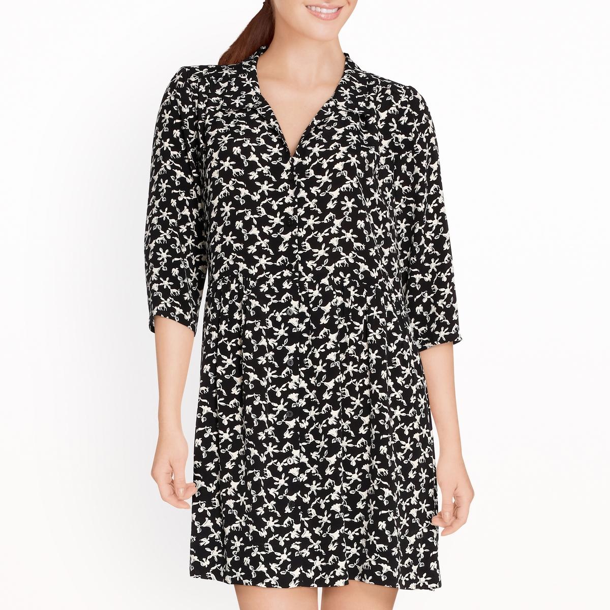 Платье с застежкой на пуговицы и рисунком COCEA
