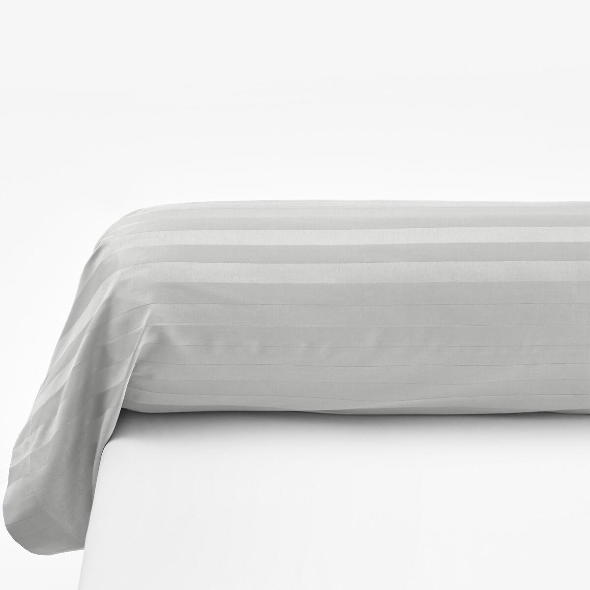 Чехол La Redoute На валик в полоску SATIN DE COTON 85 x 185 см серый чехол la redoute на подушку валик ecaille 45 x 45 см синий
