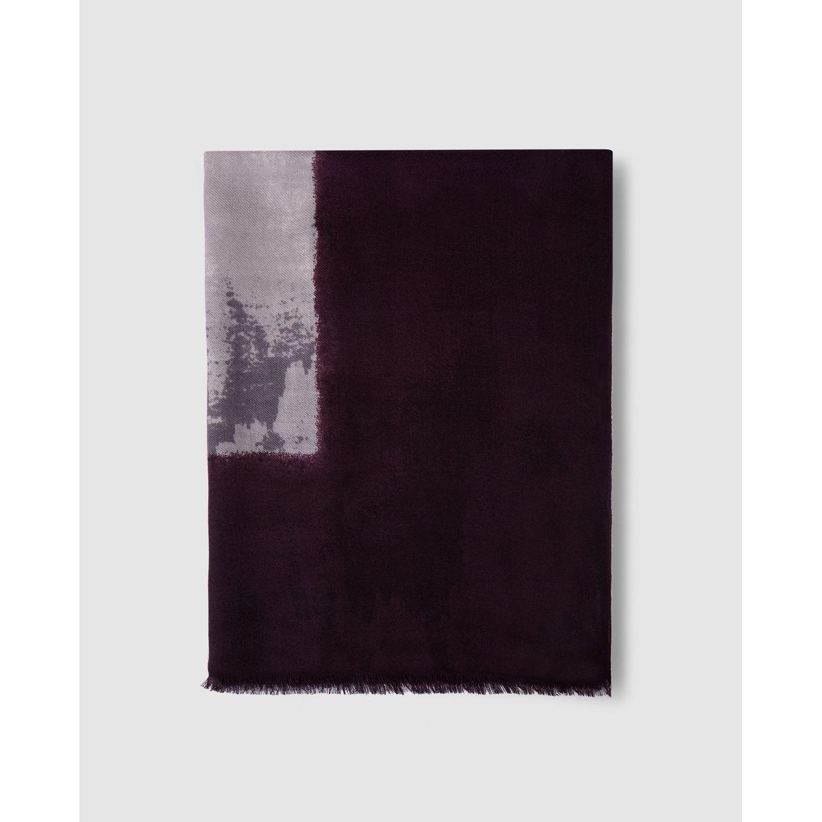 Foulard en laine avec centre imprimé