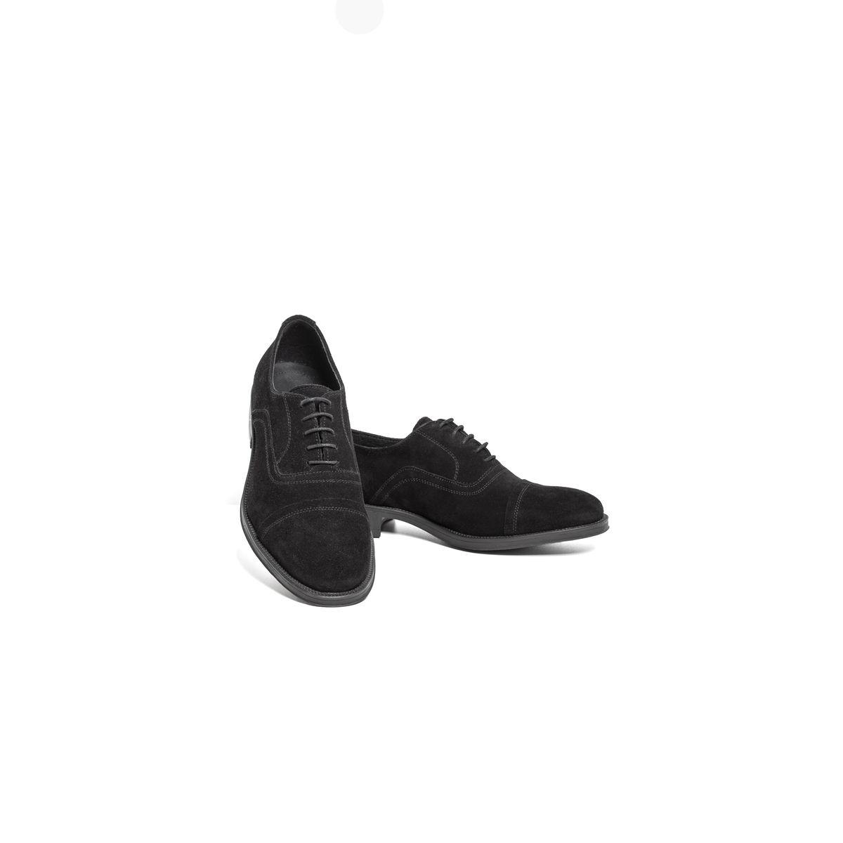 chaussure derby cuir velours