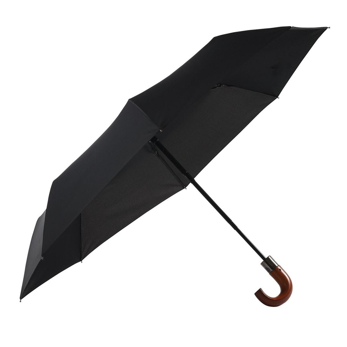 Parapluie Neyrat - noir - pliant - poignée canne