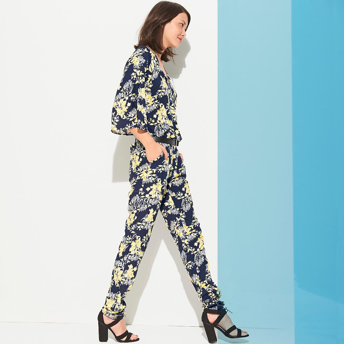 Комбинезон с брюками с цветочным рисунком от La Redoute