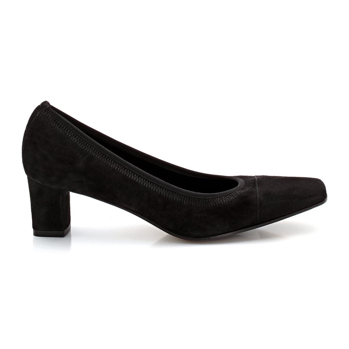 Туфли из кожи-велюр ERES от ELIZABETH STUARTТуфли, модель ERES от ELIZABETH STUARTВерх  : велюровая козья кожа.Подкладка  : текстиль. Подошва  : кожа. Высота каблука  : 5 см.<br><br>Цвет: черный<br>Размер: 39