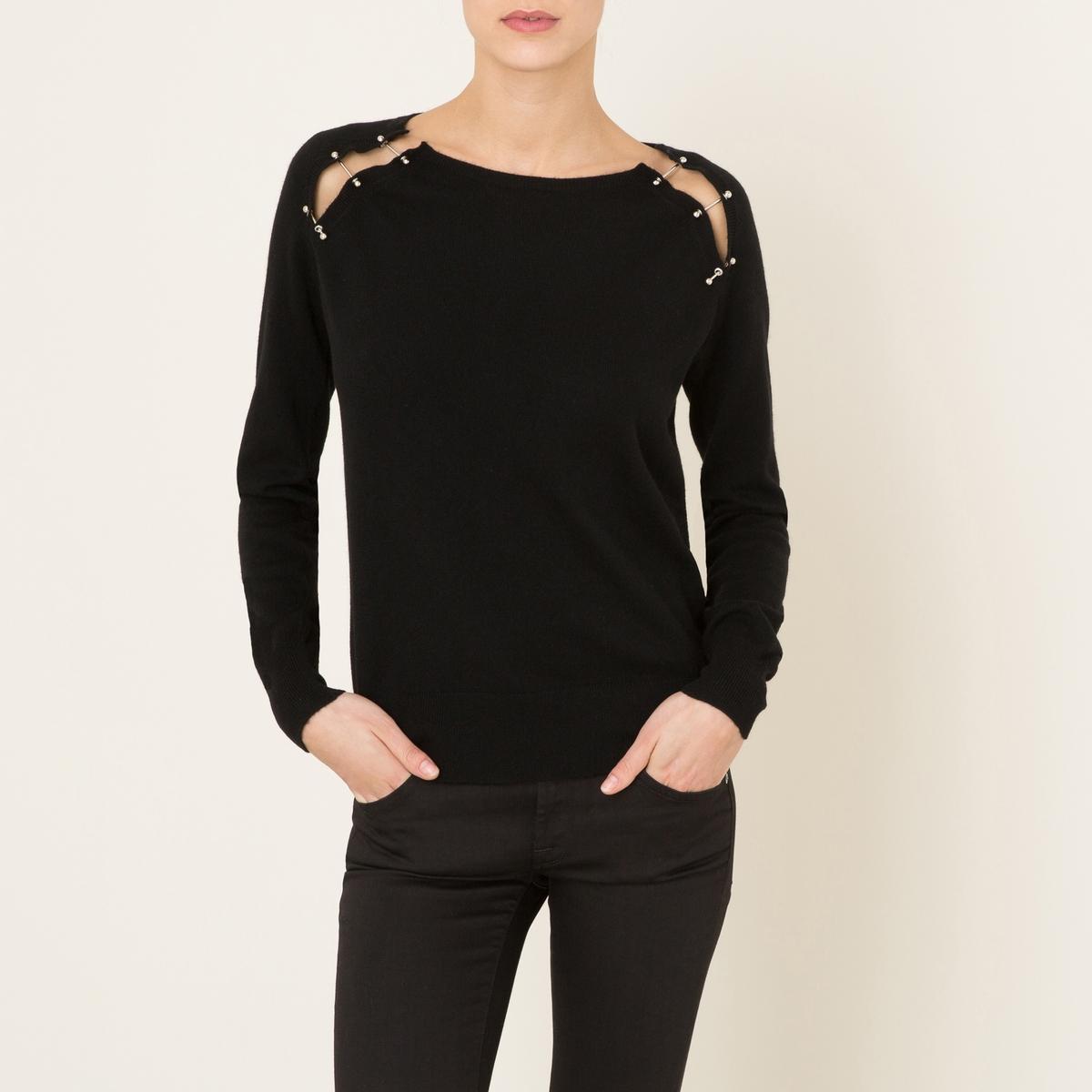 Пуловер из шерстиСостав и описание          Материал : 90% шерсти, 10% кашемира         Марка : THE KOOPLES<br><br>Цвет: черный