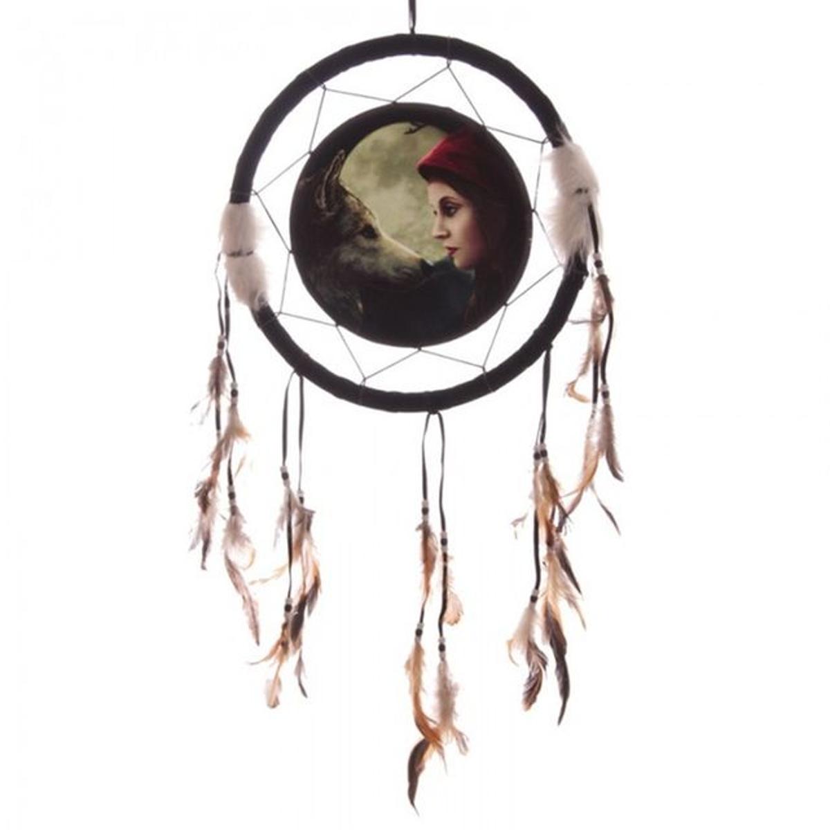 Attrape-rêves Loup & Chaperon Rouge par Lisa Parker 33 cm