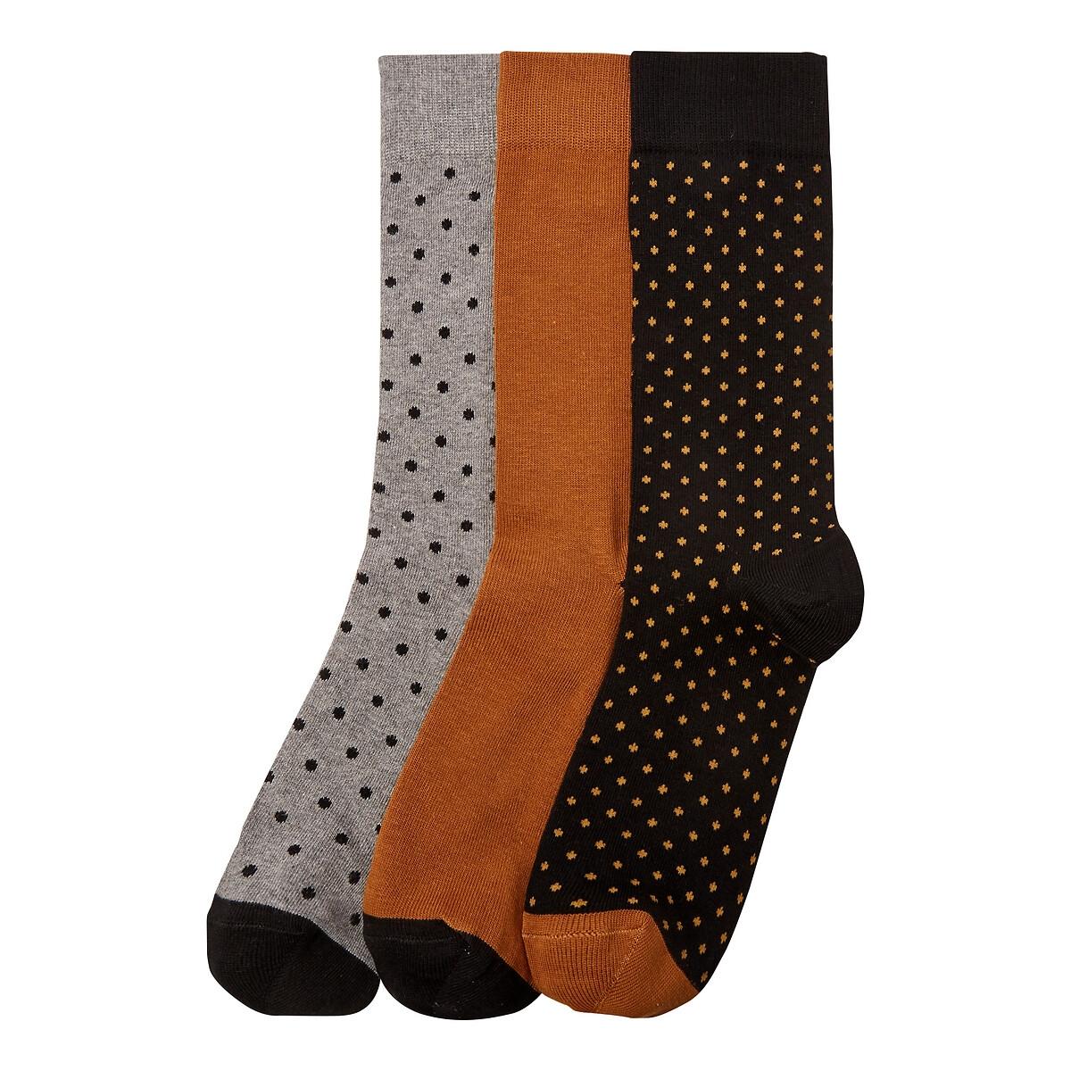 Комплект из 3 пар носков LaRedoute La Redoute 39/42 бежевый комплект из 6 пар носков la redoute la redoute 39 45 черный