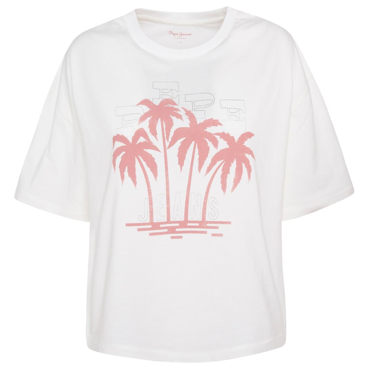 Camiseta de manga corta, estampado delante