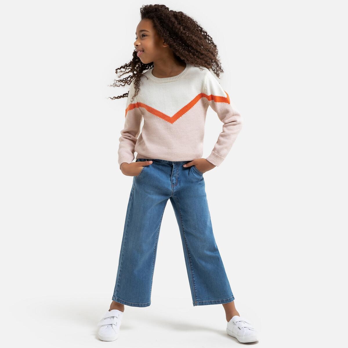Фото - Джинсы LaRedoute Широкие 3-14 лет 8 лет - 126 см синий рубашка laredoute джинсовая 3 12 лет 8 лет 126 см синий