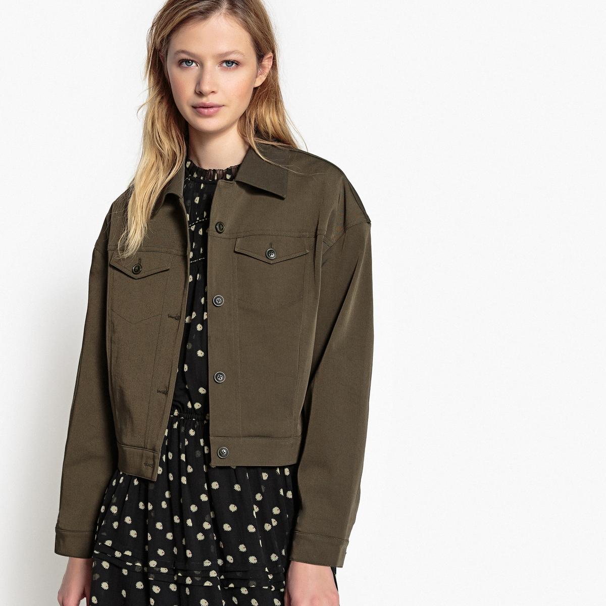 цена Куртка La Redoute С застежкой на пуговицы 34 (FR) - 40 (RUS) каштановый онлайн в 2017 году