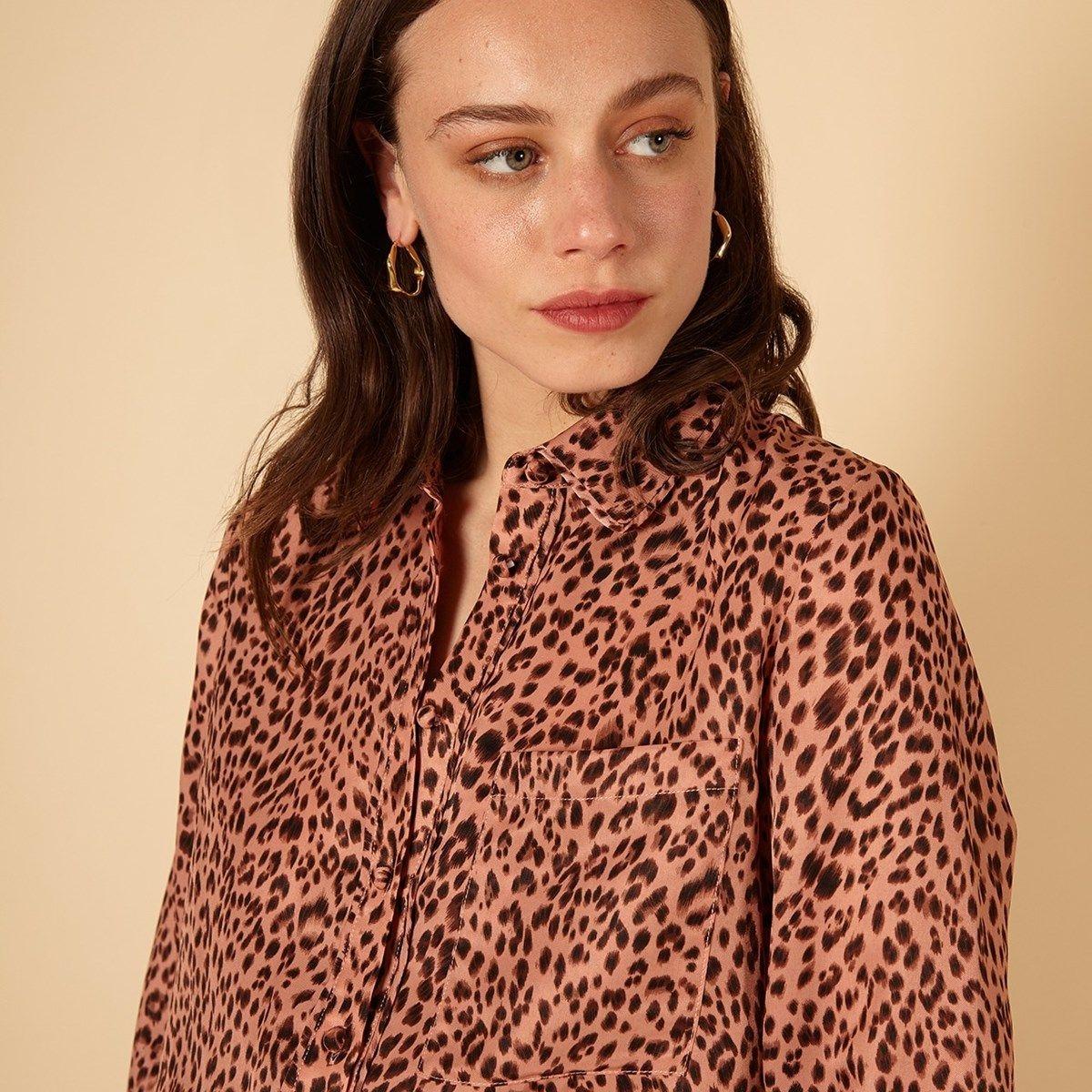 Chemise à imprimé léopard CAITLINE