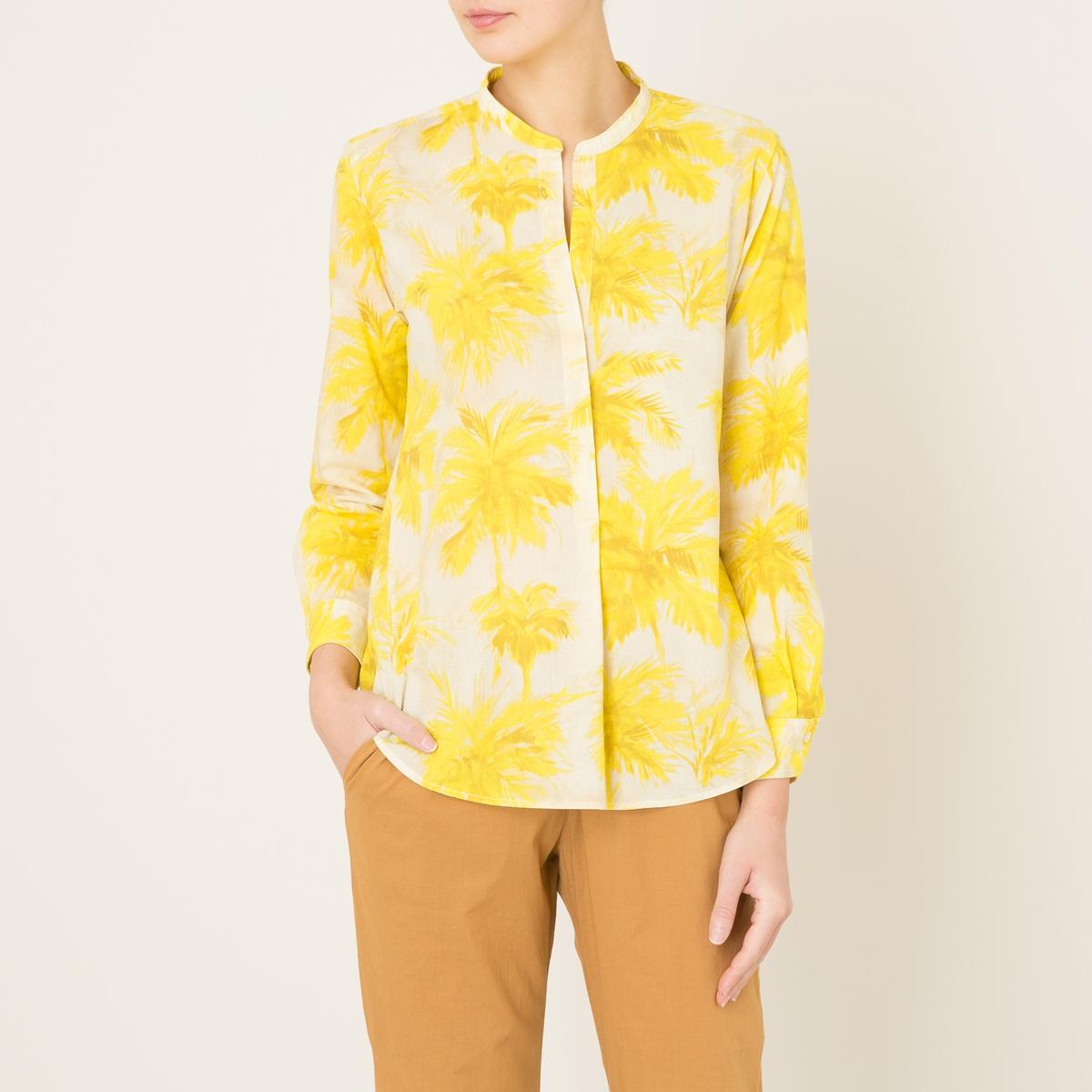Блузка с рисункомСостав и описание    Материал : 100% хлопок   Марка : HARTFORD<br><br>Цвет: желтый,хаки