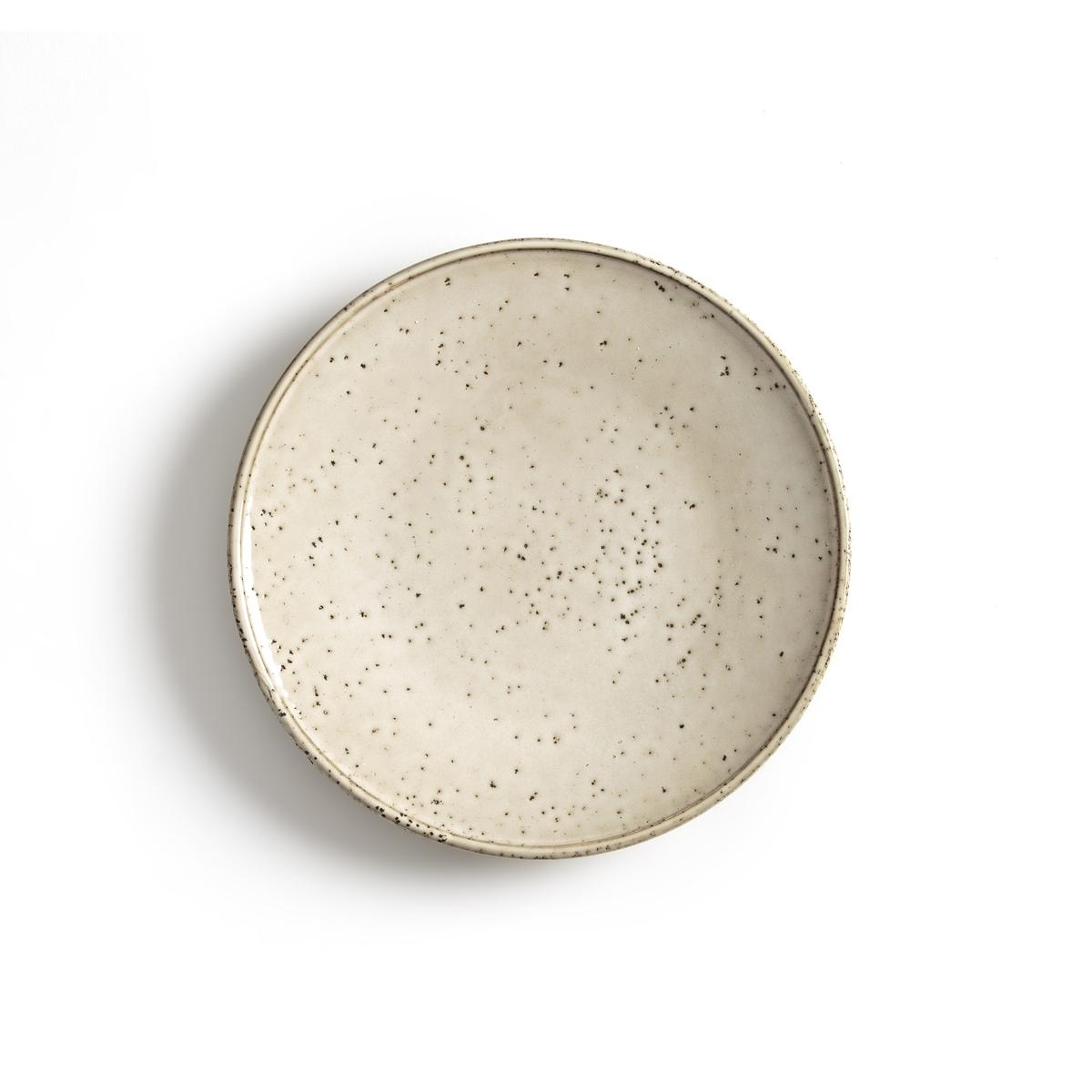 4 тарелки десертные из керамики, Olazhi4 тарелки десертные Olazhi . Красивый эффект, придающий этим тарелками внешний вид ручной работы . Можно использовать в посудомоечных машинах и микроволновых печах. Размеры : ?22 см .<br><br>Цвет: серо-бежевый