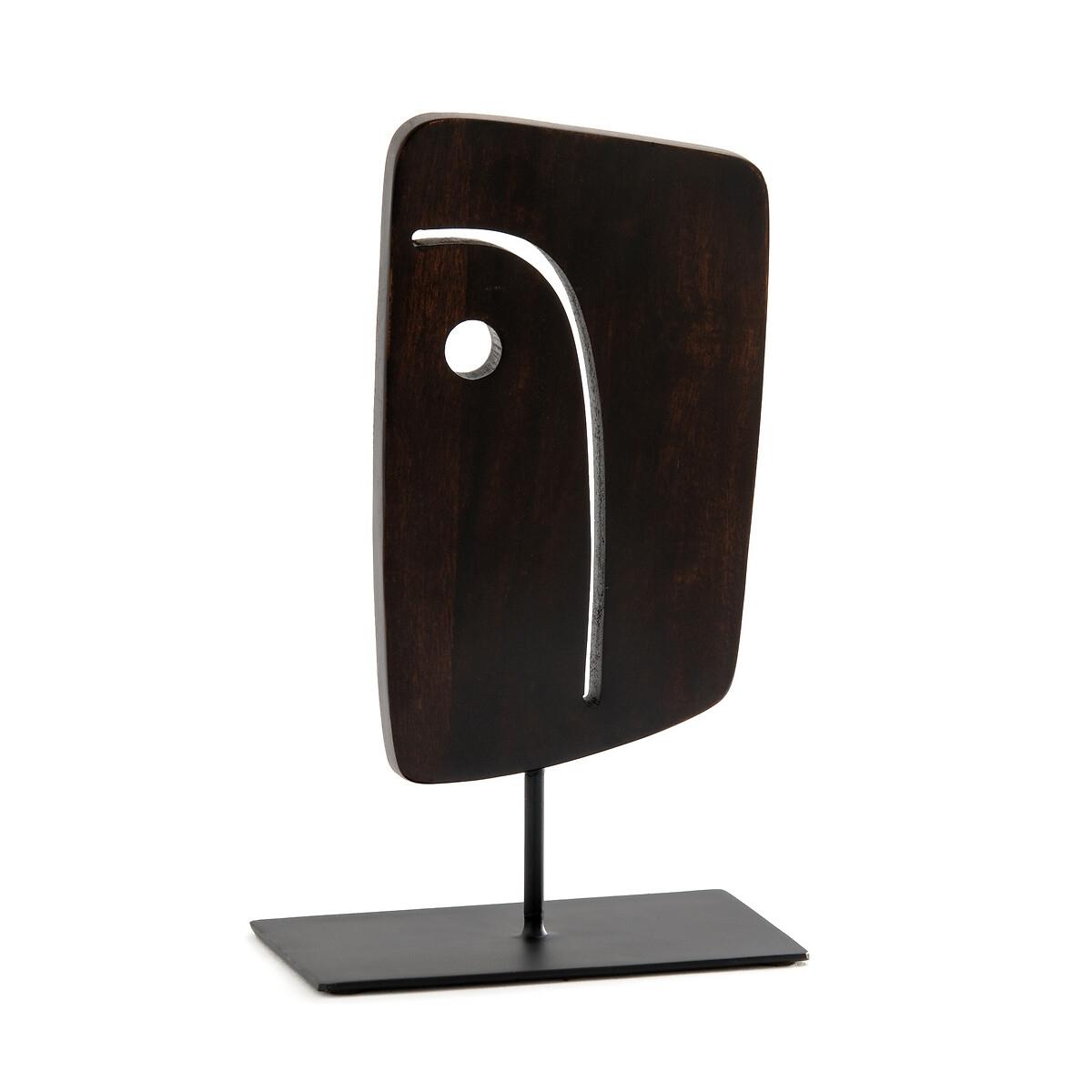 Статуэтка La Redoute Декоративная в форме лица из мангового дерева Nyala единый размер каштановый зеркало la redoute afsan из массива мангового дерева единый размер черный