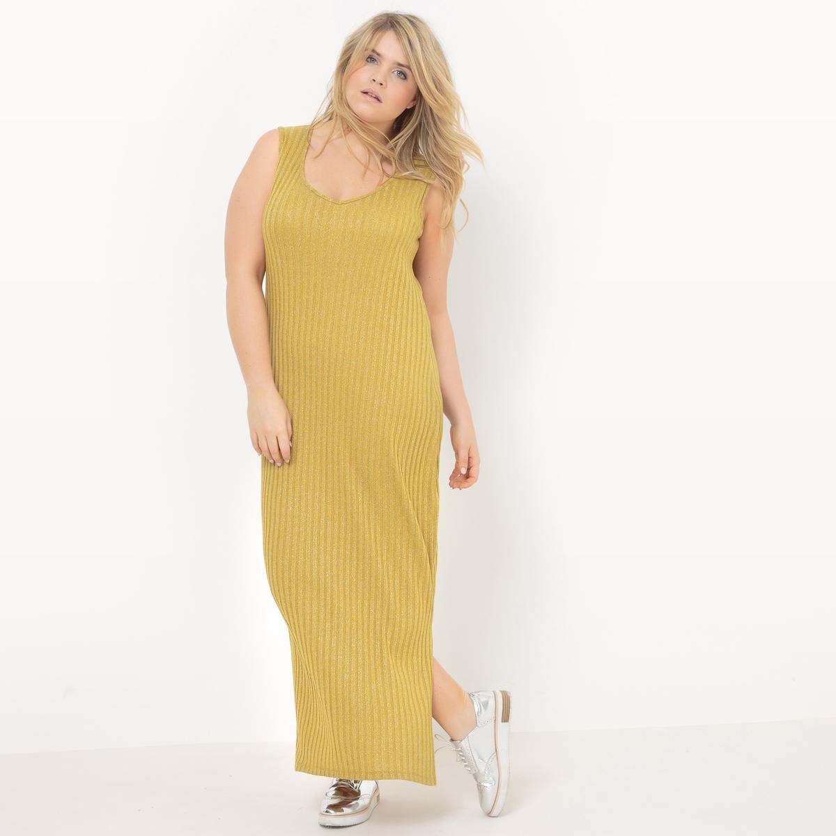 Платье-макси длинное без рукавов