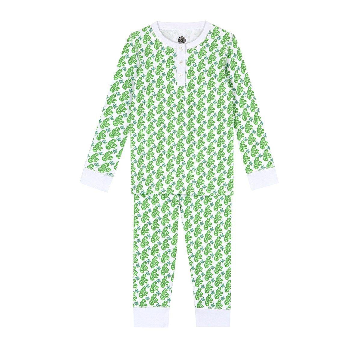 Pyjama en coton bio - imprimé Matcha Monkey